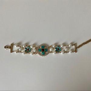 Chanel Pearl & Turquoise Bracelet
